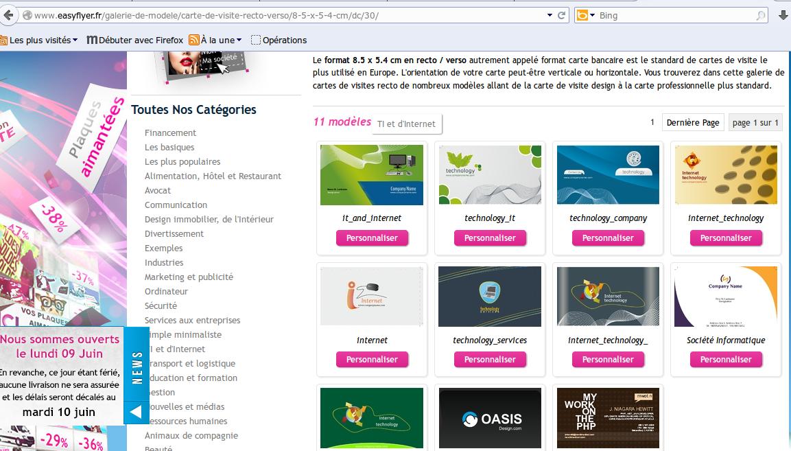 Easyflyerfr Modele Gratuit Carte De Visite Recto Verso 8 5 X 4 Cm