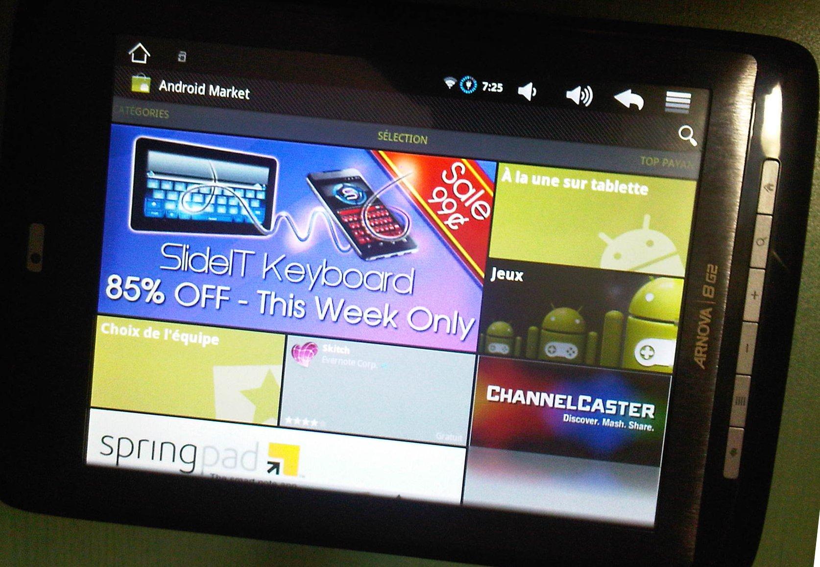 Android maket sur Arnova 8G2